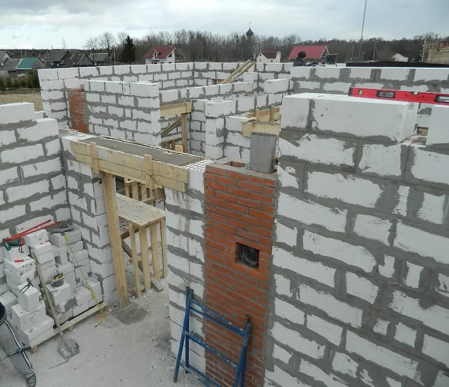 несущие стены из газобетона