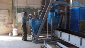 Aerocrete production process on the line ASM-40CS