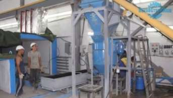Aerocrete production process on the line ASM-60CA