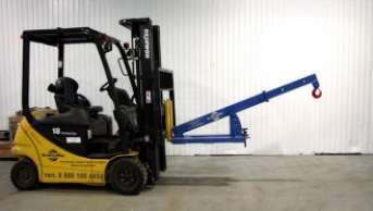 Attachable crane beam for the fork lifter