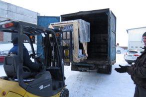 Со склада компании «АлтайСтройМаш» была отгружена мини-линия АСМ-5МС в Северную часть Казахстана
