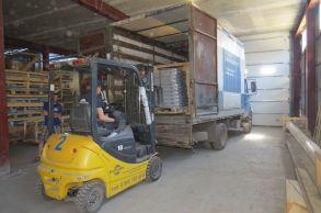 Со склада компании «АлтайСтройМаш» была отгружена мини-линия АСМ-5МС в Европейскую часть России
