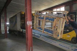 Со склада компании «АлтайСтройМаш» была отгружена конвейерная линия АСМ-30К в Западную Сибирь