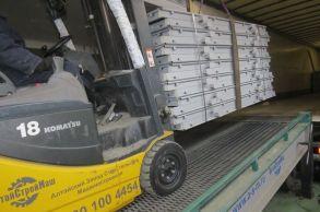 Со склада компании «АлтайСтройМаш» была отгружена конвейерная линия АСМ-150КА в Северную часть Казахстана