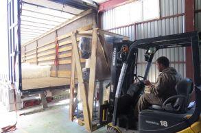 Со склада компании «АлтайСтройМаш» была отгружена конвейерная линия АСМ-1КА в Европейскую часть России