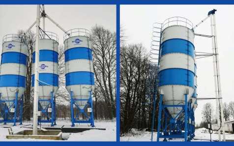 В Калининграде установлены 3 силоса для зерна