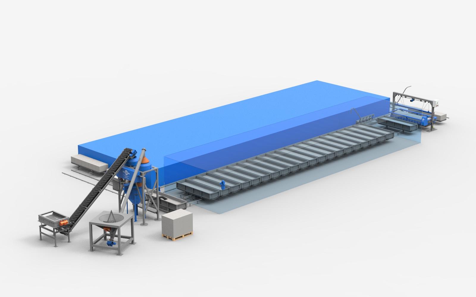 линии по производству газобетонных блоков