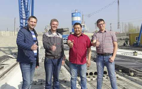 We went to Kokand and launched a mobile concrete plant ASM-BRU-30