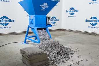 Shredder of wastes of aerocrete production