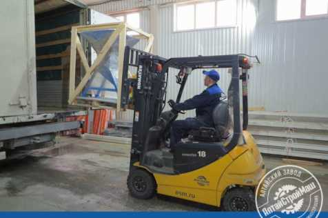 The aerated concrete Shredder was shipped to the Northern part of Kazakhstan.