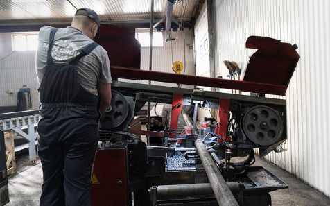Заготовка металла для новой линии